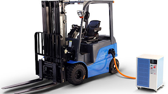 Charging electric forklift